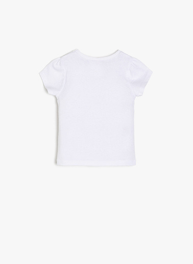 Koton Kids Yazılı Baskılı T-Shirt Ekru